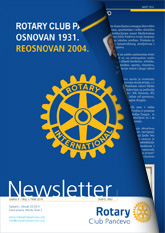 Rotary Club Pancevo - Newsletter